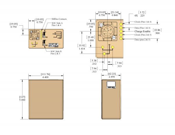 PB-2590-SMB-8.7 Battery Drawing